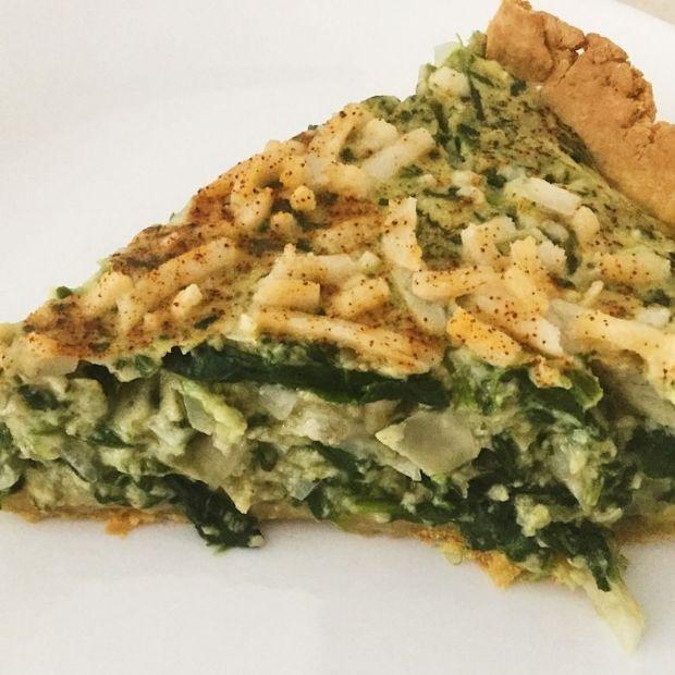 Spinach Artichoke Quiche [Gluten-Free and Vegan]